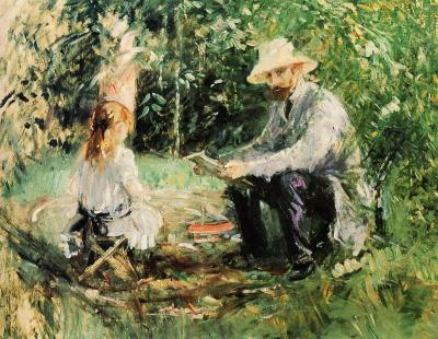 Eugene Manet and his Daughter